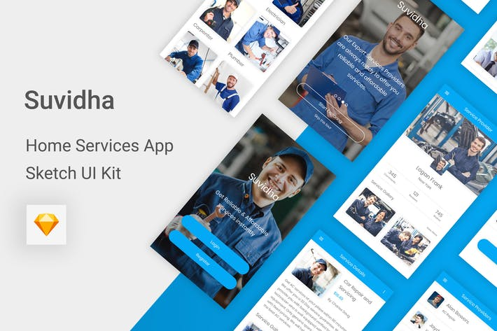 Thumbnail for Suvidha - Home Services UI Kit for Sketch