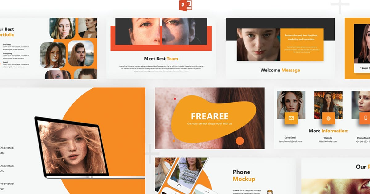 Download Frearee - Powerpoint Template by SlideFactory