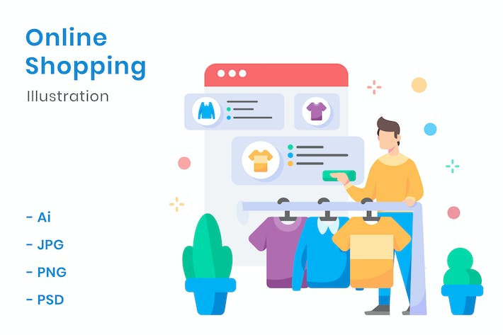 Thumbnail for Online Shopping Illustration