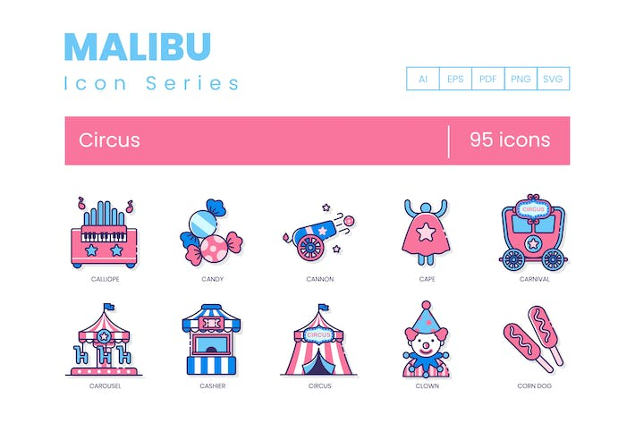 Thumbnail for 95 Circus Icons - Malibu Series