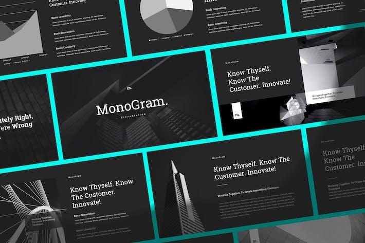 Thumbnail for Monogram - Simple & Elegant Google Slides