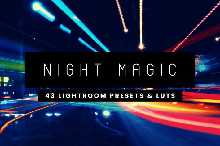 Cover Image For Night Magic - 43 Lightroom Presets and LUTs