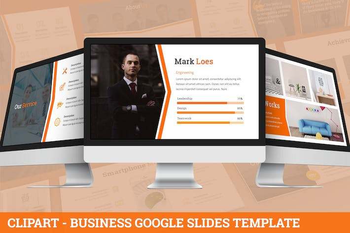 Thumbnail for Clipart - Business Google Slides Template