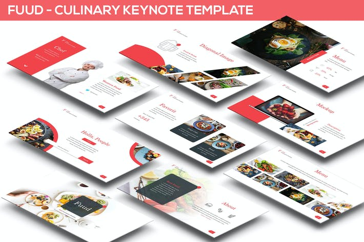 Thumbnail for Fuud - Culinary Keynote Template