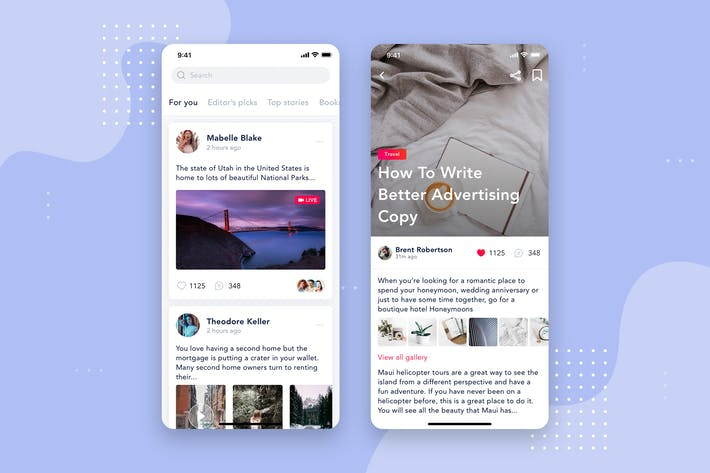 Thumbnail for Social - Articles Mobile Interface Concept