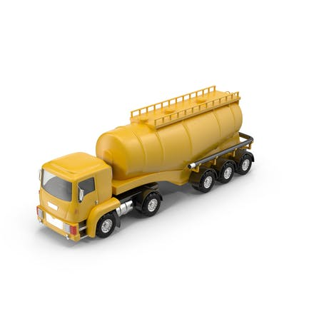 Cartoon Tanker Truck