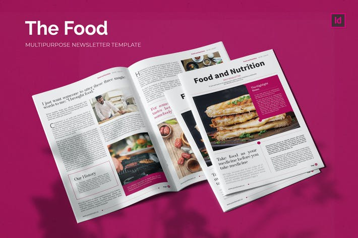 Thumbnail for Food and Nutrition - Newsletter Template