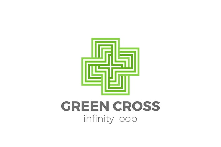 Thumbnail for Cross Plus Logo design Linear Infinity loop style