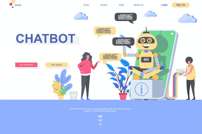 Chatbot Landing Page Template