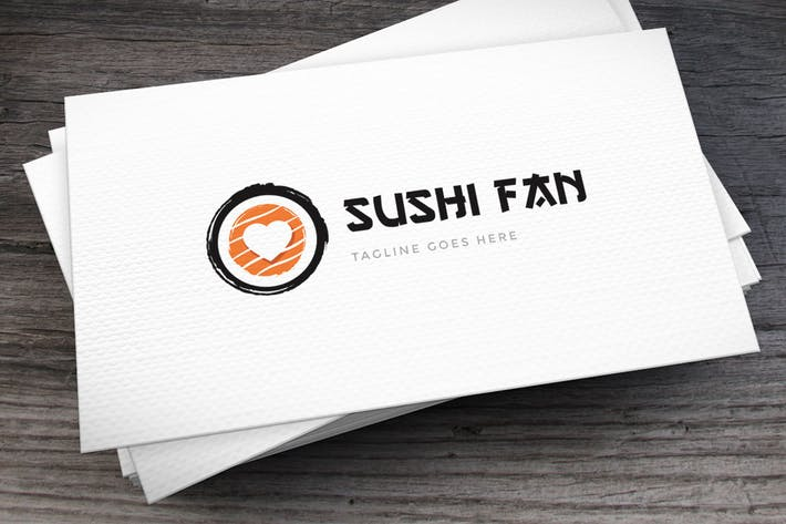 Thumbnail for Sushi Fan Logo Template