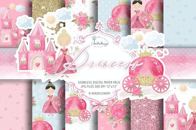 Princess digital paper pack