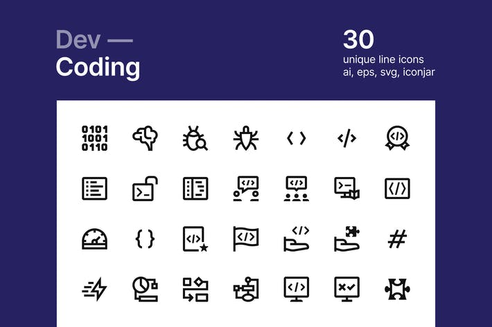 Thumbnail for Coding icons