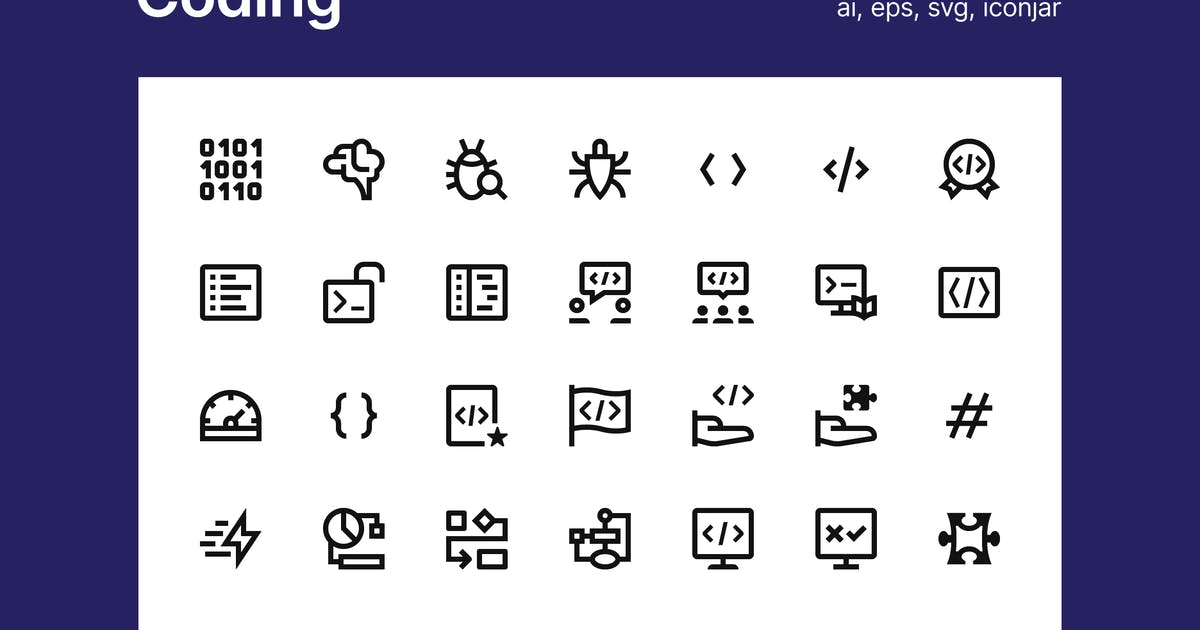 Download Coding icons by polshindanil