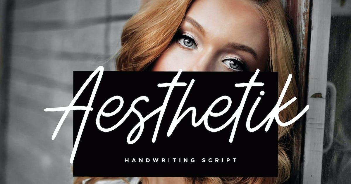 Download Aesthetik - Handwriting Font by irwanwismoyo