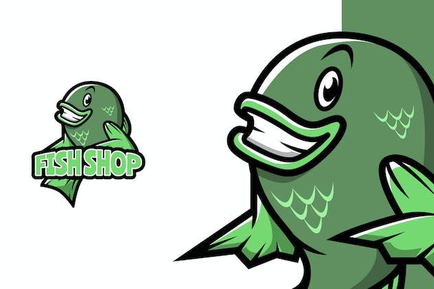 Fish Shop - Mascot Logo Template