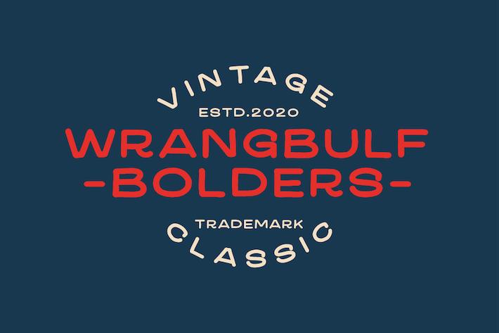 Thumbnail for Wrangbulf Bold Tipo de letra