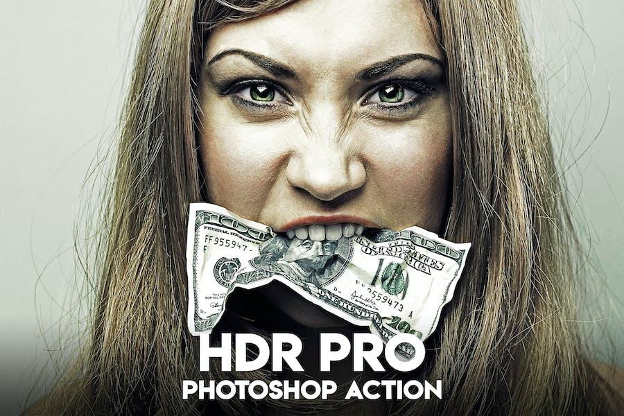 HDR PRO Photoshop действие