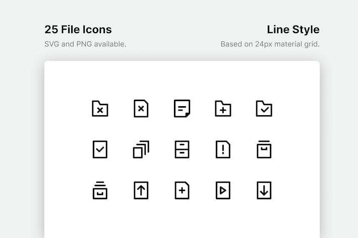 Thumbnail for File Line Icons