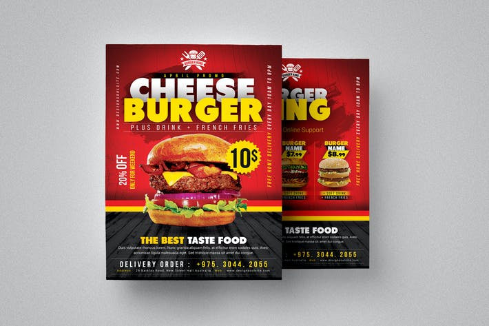 Cover Image For Burger Flyer