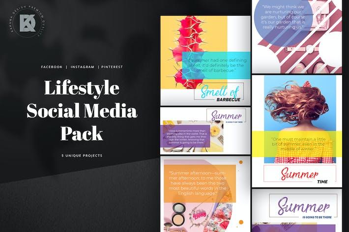 Пакет социальных медиа для образа жизни