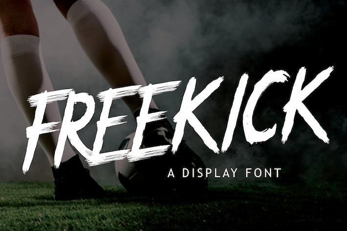 Thumbnail for Freekick - Sport Display Font