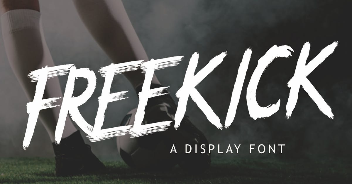 Download Freekick - Sport Display Font by CocoTemplates