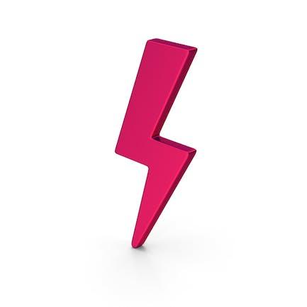 Símbolo tormenta rosa