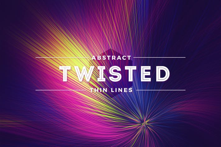 Thumbnail for Twisted Thin Lines Colorful Background