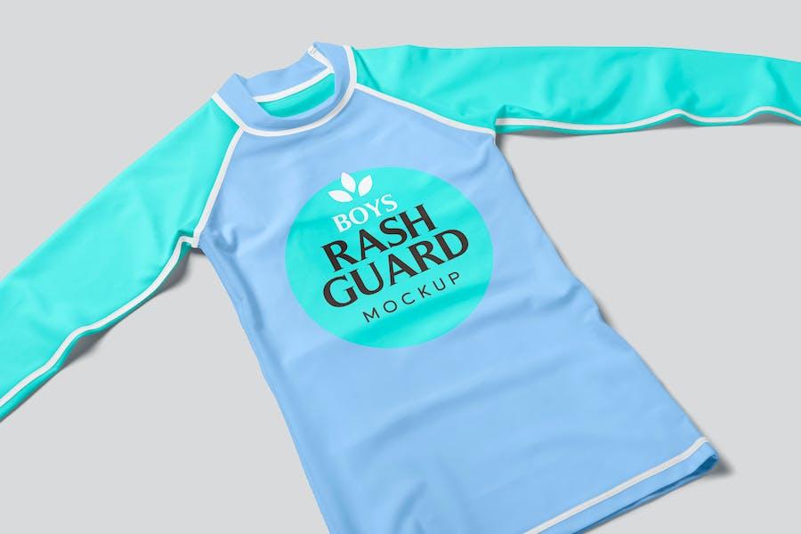 Boys Rash Guard Mockups