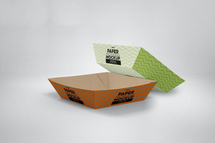 Paper Tray 6 Packaging Mockup