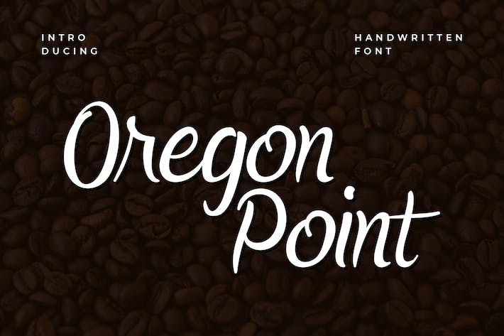 Thumbnail for Oregon Point Handwritten Font