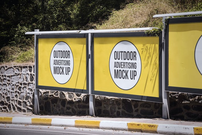 Thumbnail for Outdoor Billboard Advertising Mockup Template #4