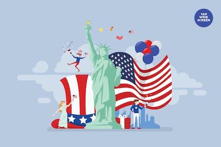 USA Independence Day Vektor Konzept Illustration