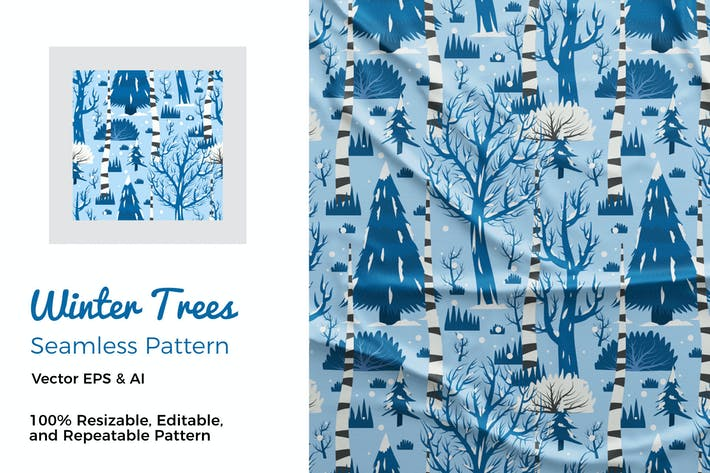 Thumbnail for Winter Trees Pattern