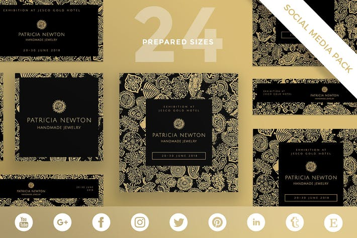 Thumbnail for Handmade Jewelry Social Media Pack Template