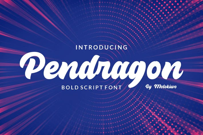 Thumbnail for Pendragon - Fuente Bold Script