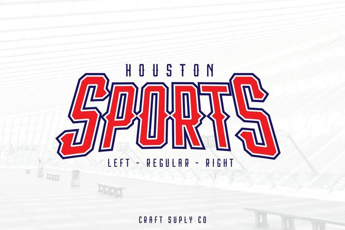 Thumbnail for Houston Sports Font Family