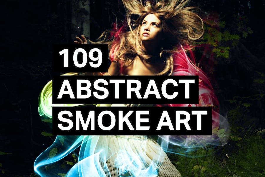 109 Abstract Smoke Art