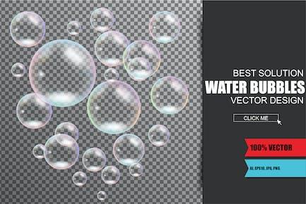 Realistische Seifen- und Wasserblasen