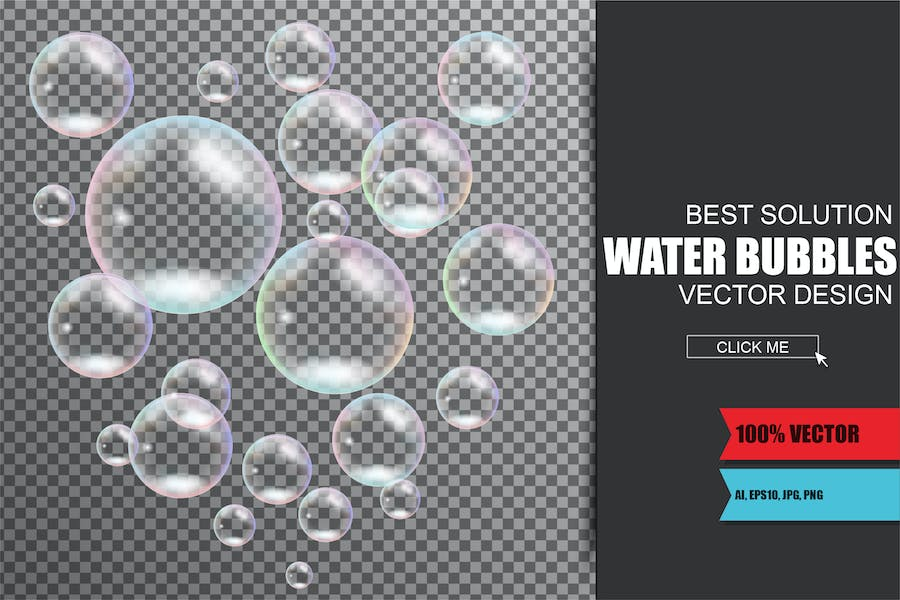 Realistic Soap And Water Bubbles