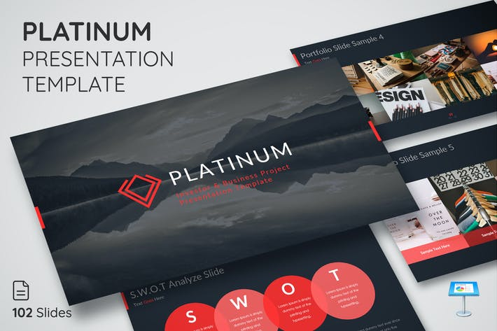 Thumbnail for Platinum - Keynote Presentation Template