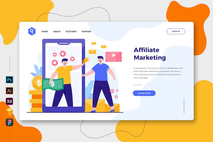 Thumbnail for Affiliate Marketing - Web & Mobile Landing Page