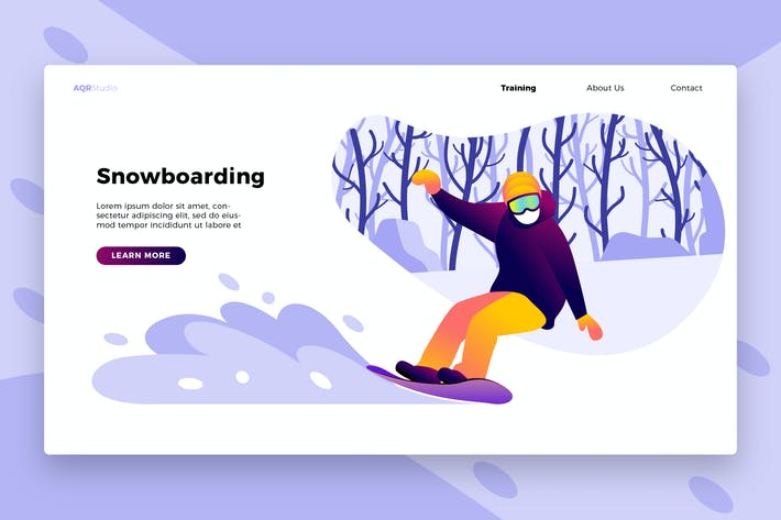 Thumbnail for Snowboard 2 - Banner & Landing Page