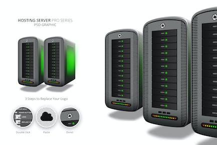 Hosting Server Pro Series GRAY Linke Ansicht