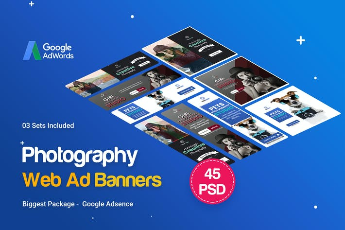 Thumbnail for Fotografie Banner Ad - 45PSD [03 Sets]