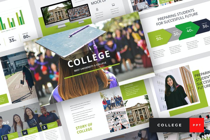 Thumbnail for Колледж - Университет PowerPoint Шаблон