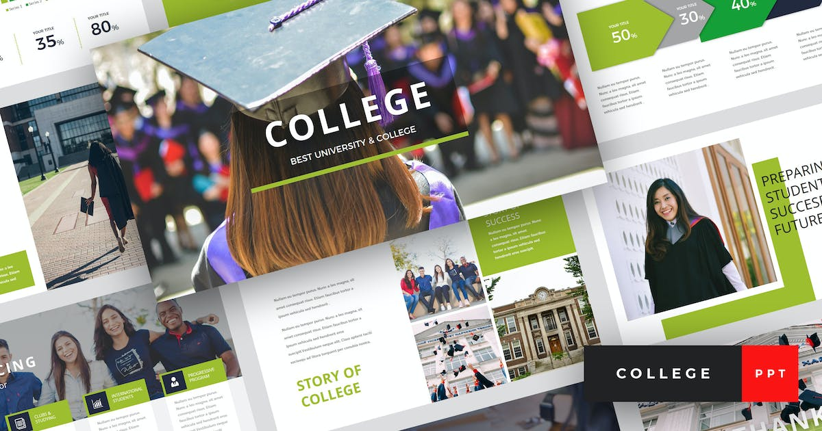 Download College - University PowerPoint Template by StringLabs
