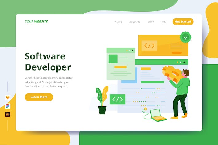 Thumbnail for Software Developer - Landing Page