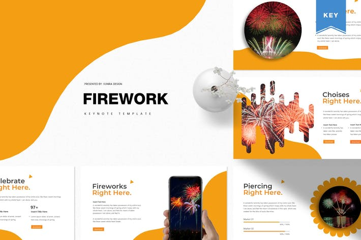 Thumbnail for Firework | Keynote Template