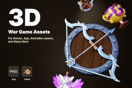 War Game Assets 3D